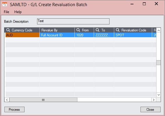 sage 300 currency revaluation batch
