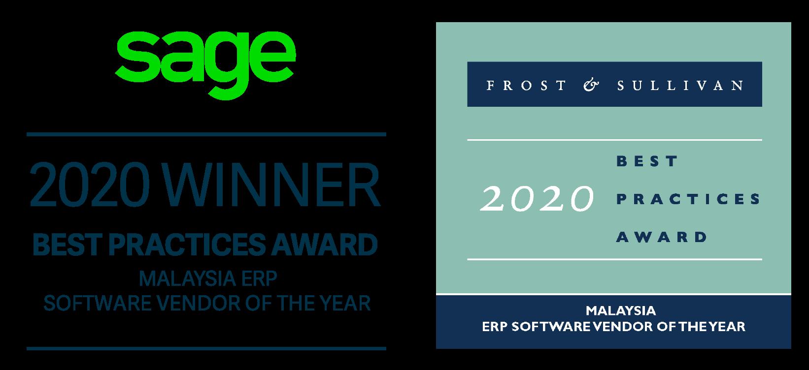sage frost & sullivan award 2020