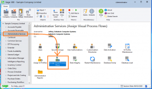 Assign visual process flow in Sage 300